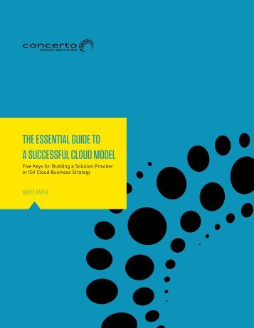 THE ESSENTIAL GUIDE TO A SUCCESSFUL CLOUD MODEL