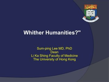 """Whither Humanities?"""""""