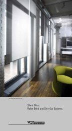 Silent Gliss Roller Blind and Dim-Out Systems