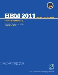 abstracts - Organization for Human Brain Mapping