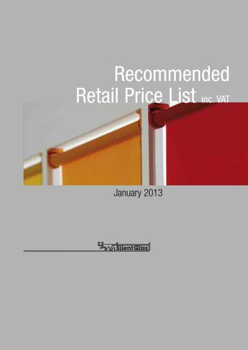 Recommended Retail Price List