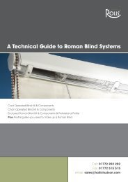 A Technical Guide to Roman Blind Systems