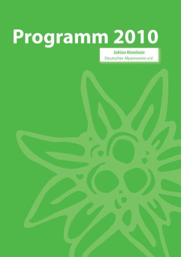 Programm 2010 - DAV Sektion Mannheim