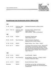 Ausstellungen des Kunstvereins Achim 1990 bis 2010