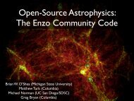 Open-Source Astrophysics The Enzo Community Code