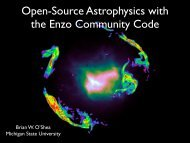 Open-Source Astrophysics with the Enzo Community Code