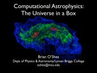 Computational Astrophysics The Universe in a Box