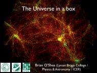 The Universe in a box