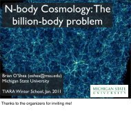 N-body Cosmology The billion-body problem