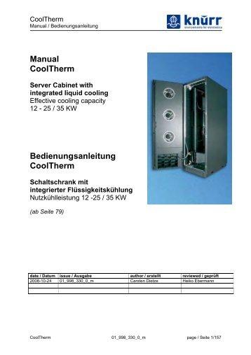"CoolTherm Server Rack - 19"" Server Rack - Emerson Network Power"