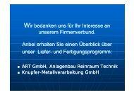 neu von ART: Containment neu von ART - ART GmbH