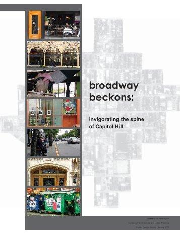 broadway beckons: - Department of Urban Design & Planning