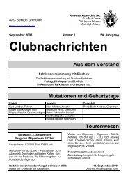 Clubnachrichten - SAC Sektion Grenchen