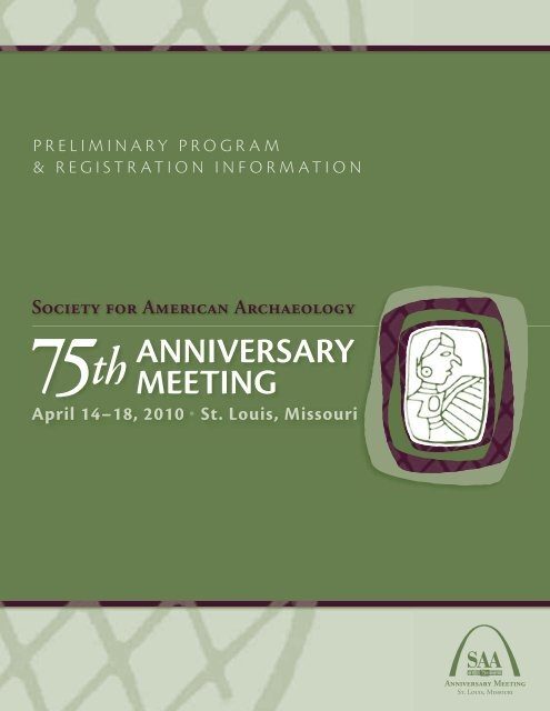 ANNIVERSARY MEETING - Society for American Archaeology