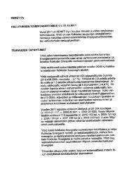 Toimintakertomus KENET Oy 2011 - Kokkolan Energia