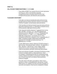 Toimintakertomus KENET Oy 2008 - Kokkolan Energia
