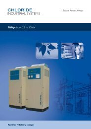T&Dys from 25 to 100 A - Emerson Network Power