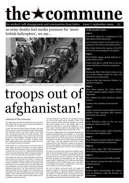 troops out of afghanistan!