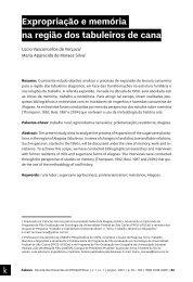 Expropriação e memória na região dos tabuleiros de cana - Áskesis