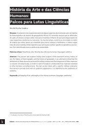História da Arte e das Ciências Humanas Palcos para Lutas Linguísticas textos