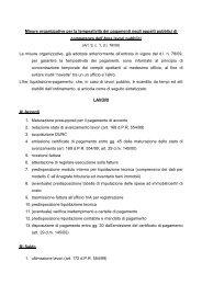 Misure organizzative per la tempestività dei ... - Comune di Forlì