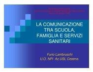 LA COMUNICAZIONE TRA SCUOLA FAMIGLIA E SERVIZI SANITARI