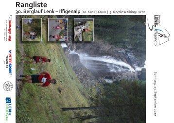 Rangliste Total Iffigenlauf 2012 - Skiclub Lenk im Simmental