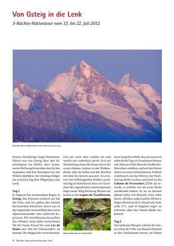Von Gsteig in die Lenk 5-Nächte-Hüttentour vom ... - SAC Sektion Bern