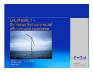 EnBW Baltic 1 - Energy, Climate, & Infrastructure Security