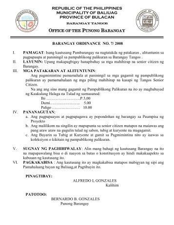 OFFICE PUNONG BARANGAY