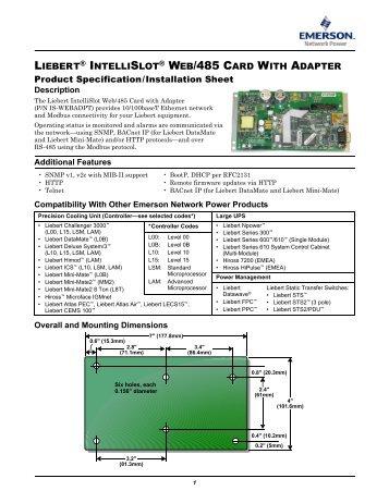 liebert intellislot modbus 485 modbus ip and bacnet ip rh yumpu com plc Wiring Diagrams RJ45 Wiring-Diagram