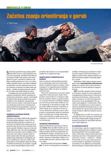 Začetna znanja orientiranja v gorah