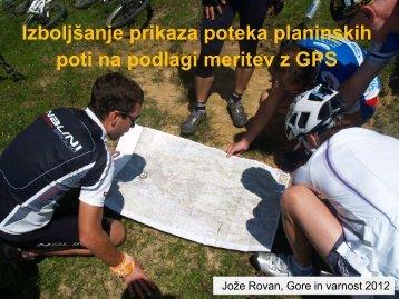 Izboljšanje prikaza poteka planinskih poti na podlagi meritev z GPS