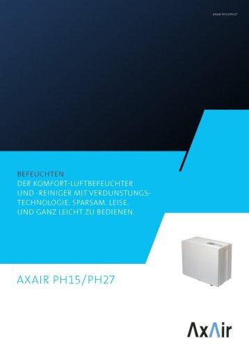 Prospekt Befeuchter AxAir® PH 15
