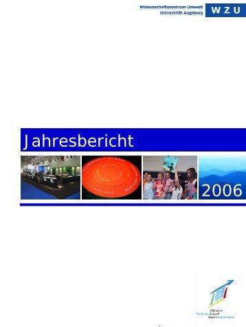 WZU-Jahresbericht 2006 - WissenschaftsZentrum Umwelt ...