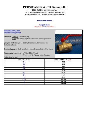 PERSICANER & CO Ges.mbH 1100 WIEN LEEBGASSE 64