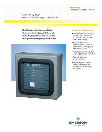 Liebert RCM4 - Emerson Network Power
