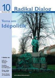 Radikal Dialog Idépolitik - Radikale