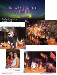Holy S p i r i t Co n fere n ce August 6-9 2008