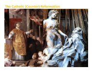 The Catholic (Counter) Reformation