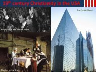 19 century Christianity in the USA