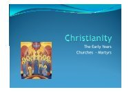 The Early Years Churches - Martyrs