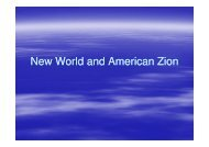 New World and American Zion