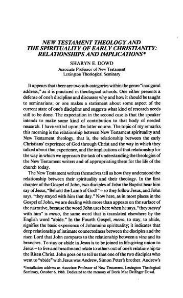 Dowd-SPIRITUALITY OF.. - martagon.org