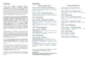 Seminarziel Seminarfolge - IFF GmbH