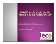 Current issues surrounding seismic & survey consultancy - IECO