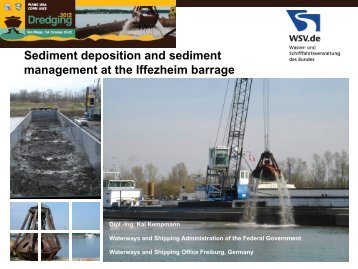 Sediment deposition and sediment management at the Iffezheim ...
