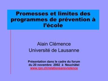 Promesses et limites des programmes de prévention à l'école