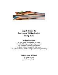 ELA Grade 12 Curriculum 2012 - West Hempstead Union Free ...