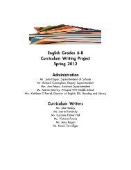 ELA Grades 6-8 Curriculum 2012 - West Hempstead Union Free ...